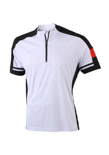 Fahrrad-Trikot Half-Zip für Herren - kurzarm