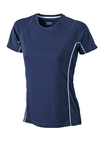 Damen Sportshirt mit Meshrücken und reflektierenden Details