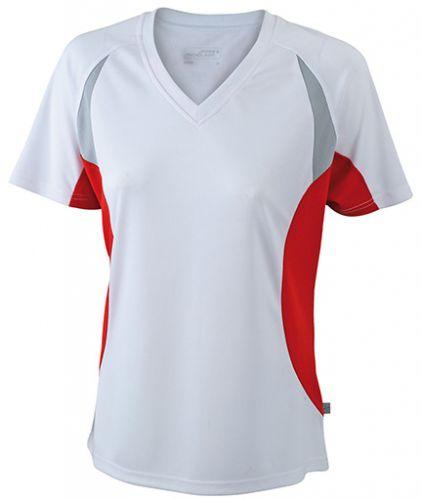 Laufshirt - Lauftrikot Running T-Shirt V-Ausschnitt für Damen