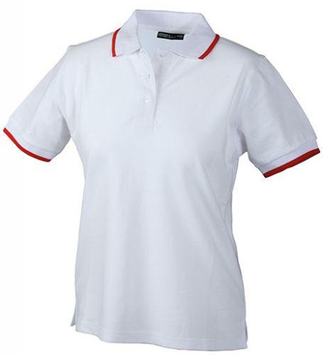 Vereins-Poloshirt mit Kontraststreifen für Damen