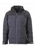 Hybridjacke in modernem Stepp-Softshell-Materialmix